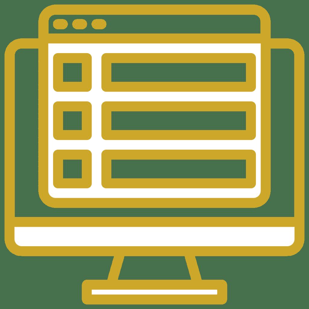 Weboldal infografikái ikon